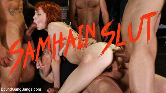 BoundGangBangs – Alexa Nova – Samhain Slut: Alexa Nova gets double stuffed on Halloween