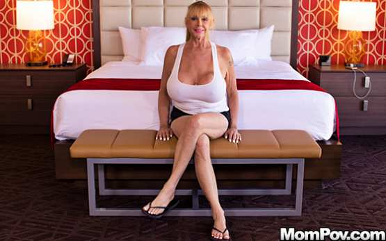 MomPOV E558 – Shelly – Blonde cougar with gigantic tits
