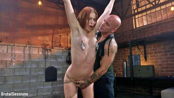 Brutal Sessions – Maya Kendrick – May Kendrick gets her whore holes fucked and flogged in bondage