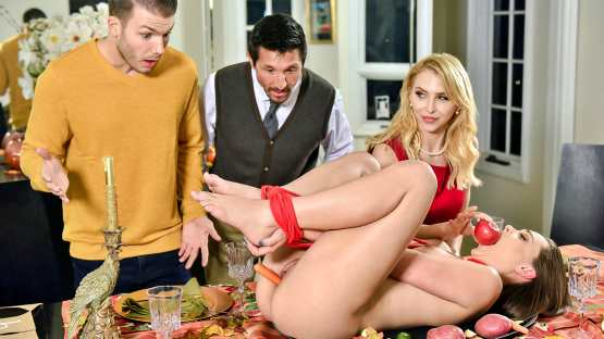 Family Strokes – Alix Lynx, Aften Opal – Thanksgiving Fuck Fest