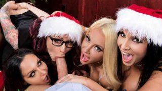 Big Tits At Work – Ava Addams, Monique Alexander, Nicolette Shea, Romi Rain – Office 4-Play: Christmas Bonuses