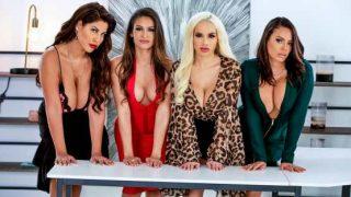 Big Tits At Work – Bridgette B, Katana Kombat, Luna Star, Victoria June – Office 4-Play: Latina Edition
