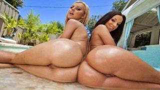 Big Wet Butts – Jada Stevens, Jessie Rogers – Double Anal Poolside