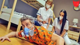 FakeHostel – Jennifer Mendez, Ariela Donovan – Stuck Between Two Nurses